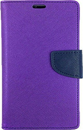 Exoic81 Wallet Flip Cover For Samsung Galaxy Trend 2 Duos (S-7392) - Purple  available at amazon for Rs.199