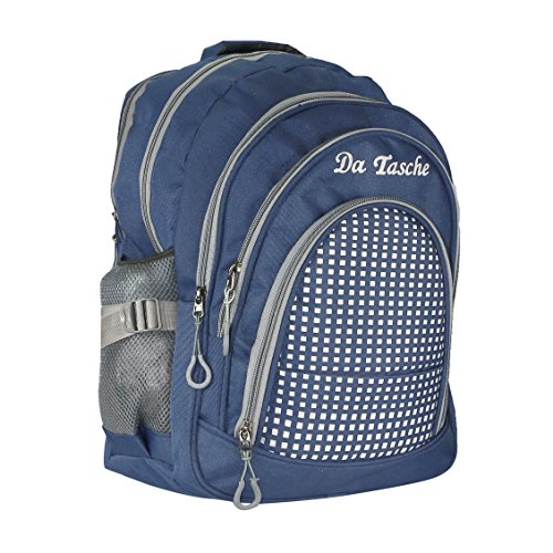 Da Tasche Waterproof Blue Trendy School Bag/Backpack