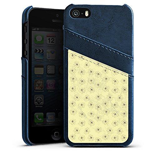 Apple iPhone 6 Housse Étui Silicone Coque Protection Fleurs Fleurs Vintage Rétro Collection Étui en cuir bleu marine