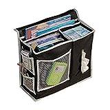 6Pocket Nachttisch Storage Bag Aufhängen Kleinteile, Zeitschriften, Handy, Tissue Holder Organizer Matratze Buch Fernbedienung Caddy Getriebe Nachttisch Storage Caddy Sofa Pouch, 31,8cm W x 12,7cm D x 25,4cm H (schwarz)