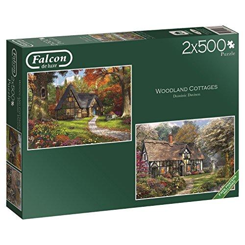 Jumbo - Puzzle Woodland Cottages, 2 x 500 Piezas (611167)