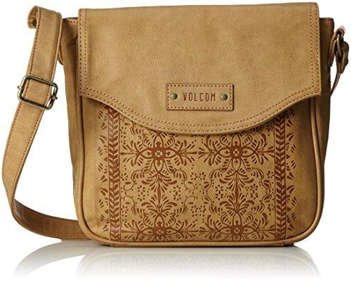 Volcom Damen Dezert Mist C/Body Schultertasche, Braun (Vintage Brown), 7x23x23 cm (Pan Am-vintage-tasche)