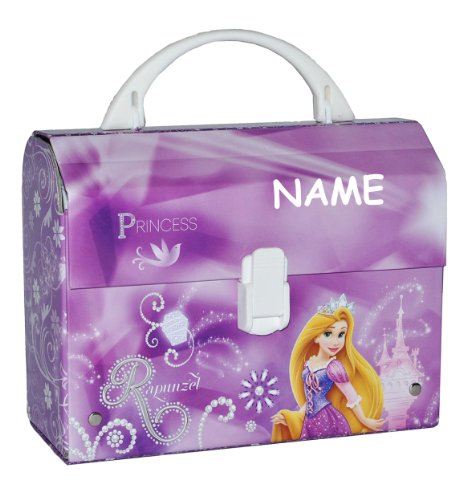 Unbekannt Kinderkoffer / Kindergartenkoffer Disney Prinzessin Rapunzel - mit Namen - z.B. für Lunchbox - Puppenkoffer Koffer Reisekoffer aus Pappe - für Kinder Mädchen ()
