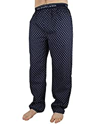 Polo Ralph Lauren Homme Logo Baudrier All Over diamant Bottoms Imprimer Pyjama, Bleu