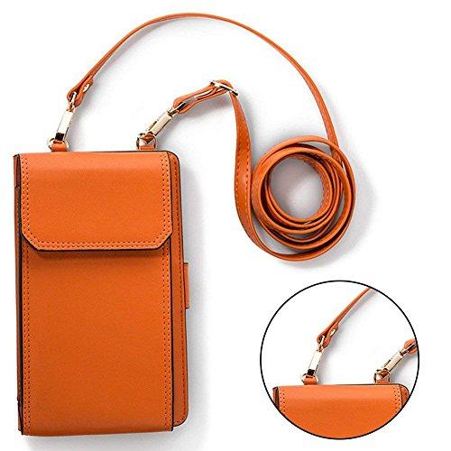 Sunroyal PU Leder Mini Handytasche Tasche Beutel mit Gurt Kleine Umhängetasche (Htc One M8-fall-karte)