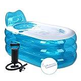 Handpumpe Aufblasbare Badewanne Erwachsene Badewanne Badebecken Erwachsene Verdickung Faltbare Badewanne Kunststoff Badewanne Badewanne (Blau) (größe : 130cm)