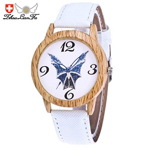 Unisex Uhren, CICIYONER Halloween Maske Fledermaus gedruckt Armbanduhren (Maske Gold Fledermaus)