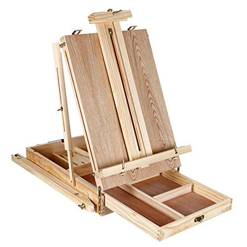Artina cavalletto pittorico tripode madrid in legno di pino da tavolo o da campagna - Cavalletto da pittore da tavolo ...