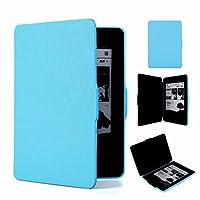 Hzjundasi Cross Pattern Sleep Leather Case Cover For Amazon Kindle Paperwhite 1/2/3 (Sky Blue)