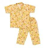 #10: Half Sleeves Night Suit Bear Print - Orange
