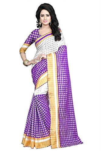 Kamela Saree Cotton Saree With Blouse Piece (Zaranapurple1_Purple_Free Size)