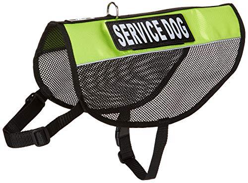 Doggie Stylz in Service Hund Vest Mesh Harness Cool Comfort Nylon für Hunde Klein Medium Große Kauf Kommt mit 2Reflektierende in Training pathces, Girth 21-24