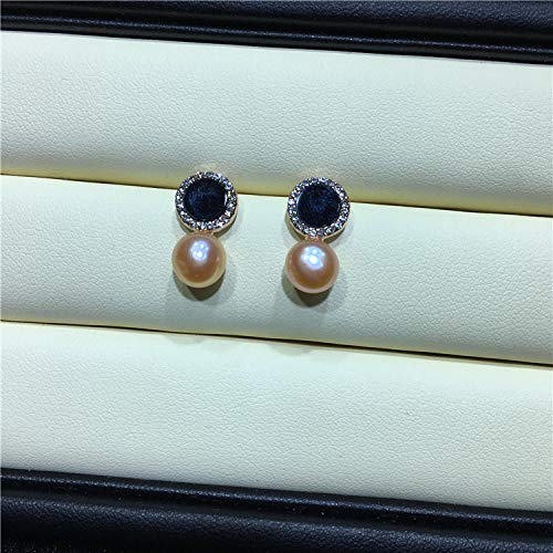 GJongie Spille Spilla Pin Brooch Boutonniere Orecchini A Bottone in Argento Naturale con Perle d'Acqua Dolce