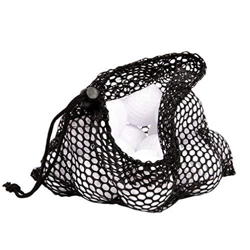 LIOOBO Tennis Ball Bags Black Drawstring Closure Net Durable Storage Tragende Halter Container Ball Bags für Golf Tennis Schwarz