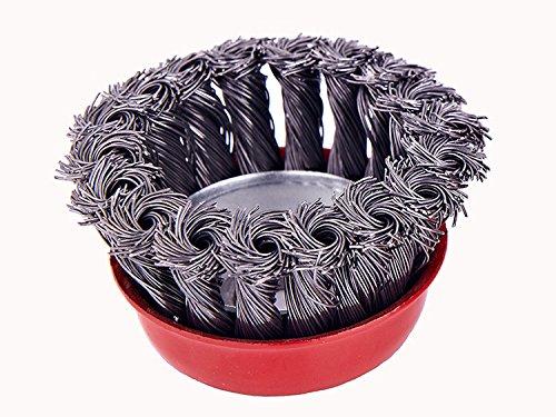 3-Inch Twisted Wire Bowl Roue 100 Angle Grinder Dédié brosse métallique Acier poli 0.50mm Wire Roue 75 * 16mm