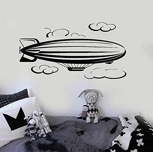jiushizq Luftschiff Wolke Wandkunst Aufkleber Wohnkultur Schlafzimmer Abnehmbare Selbstklebende Wandtattoos Baby Kindergarten Perfekte Qualität Wandbild Z 105x56 cm