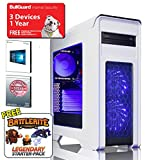 ADMI GTX 1060 GAMING PC: High-End VR Ready Gaming Desktop Computer: Intel Core i5 7400 3.5Ghz Quad Core CPU / NVIDIA GeForce GTX 1060 6GB GDDR5 4K VR Ready Graphics Card / 8GB 2400MHz DDR4 RAM / 1TB Hard Drive / 500W PSU Bronze Rated / HD Audio / USB 3.0 / HDMI/4K Ultra HD Support / VR / Oculus Support / Game Max Falcon White Gaming Case - Blue LED / DVDRW 24x / Pre-Installed with Windows 10