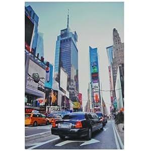 Tableau Toile Deco New York Times Square Avenue Taxi 30x20cm