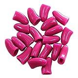 Cappucci colorati per le unghie del vostro cane, gatto e gattino, confezione da 20 pz
