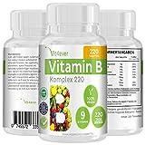 Premium Vitamin B Komplex 220 Tabletten, 220 Tage Versorgung, 9 hochdosierte B-Vitamine in einer Tablette , Vitamine B1, B2, B3, B5, B6, B8, B9, B12, Biotin, Folsäure, Leichte Einnahme durch 8mm kleine Tabletten, Verwendung von veganen und vegetarischen Tabletten
