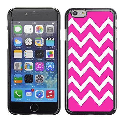 Graphic4You Chevron Muster Harte Hülle Case Tasche Schutzhülle für Apple iPhone 6 / 6S (Türkis) Neon Rosa