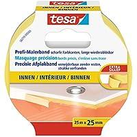 tesa Malerband für Innen, Profi Qualität, 25m x 25mm