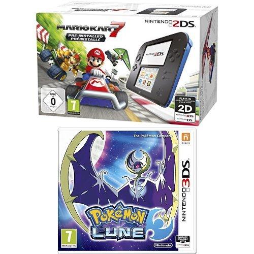 Pack console Nintendo 2DS + MArio Kart 7 + Pokémon Lune