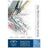 Winsor & Newton 6689614 Zeichenblock, gummiert, 40 Blatt - weiß, 130 g/m², DIN A4