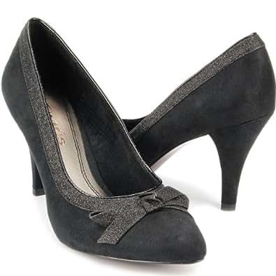 TAMARIS Damen High Heeles Pumps, Stiletto, Glitzer, schwarz, Größe:41