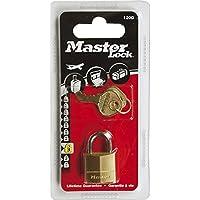Master Lock 120EURD Lucchetto, Arco Acciaio 11 mm, Ottone, 20 mm
