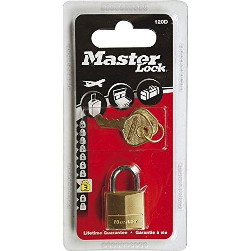 Master Lock 120EURD Lucchetto, Arco Acciaio 11 mm, Ottone, 20