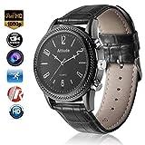 Menborn 16GB Wrist Smart Watch Camera HD 1080P Infrared Night Vision High-end Camera(Black)