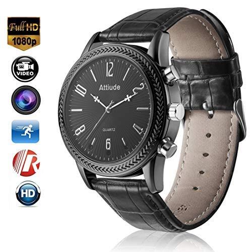 Menborn 16GB cinturino smart Watch fotocamera HD 1080p visione notturna ad infrarossi High-End camera (nero)
