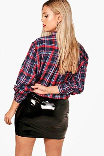 Marine Femmes Plus Jodie Checked Shirt Marine