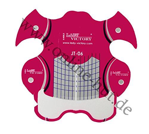 online-hut Modellier Schablonen Pink Squoval MS-16 - 50 Stück