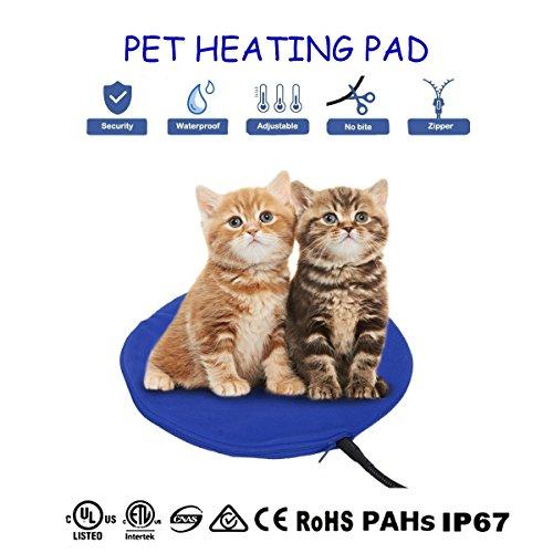 Qiu's home Cojín de calefacción eléctrica para mascotas,Almohadilla de calentamiento para Perros...