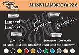Lambretta Decalcomania Adesivi Stickers Sponsor Tecnici Moto Casco Motorbike Scegli Il Colore PEGATINAS Moto GP AUFKLEBER Decals AUTOCOLLANTS Motocross Motocicletta Partners COMPATIBILI