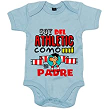 Body bebé soy del Athletic como mi padre Jorge Crespo Cano