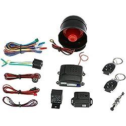 KKmoon Antirobo Sistema Alarma Reserva Alerta de Sonido Reguladores Alejados de Vehículo