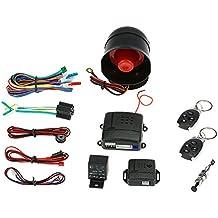 KKmoon Sistema de alarma antirrobo para coche o vehículo, seguridad y protección, 2 mandos