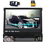 Eincar 1-DIN Autoradio con LCD Touch Screen da 7 pollici 800 * 480 HD di GPS Autoradio DVD / CD / USB / AUX-IN / MP3 / iPod Radio Bluetooth con Free Card + Map macchina fotografica di sostegno