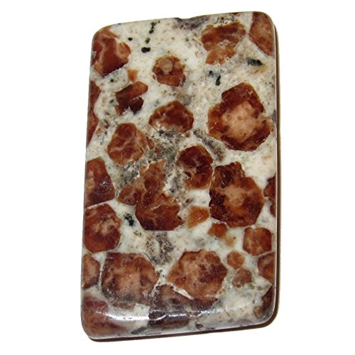 Satin Kristalle Opal Cabochon 4,3cm Specialty orange braun Gems eckig Stein Sakralen Chakra Heilung S03 (Gem Stein-ringe Frauen Für)