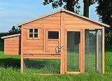 Zooprimus  Poulailler en bois pour jardin extérieure 5 poules Cage Canard 2 perchoir Nichoir 190 x 67 x 117 cm Poulailler de luxe 143