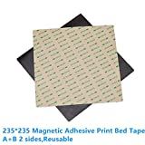 Noka 235 * 235 mm//9.25 * 9.25 inch Magnetische Adhesive Druckbett Print Tape A B Seite Aufkleber Oberfläche FlexPlate bauen band für Creality i3 Ender-3 3D Drucker