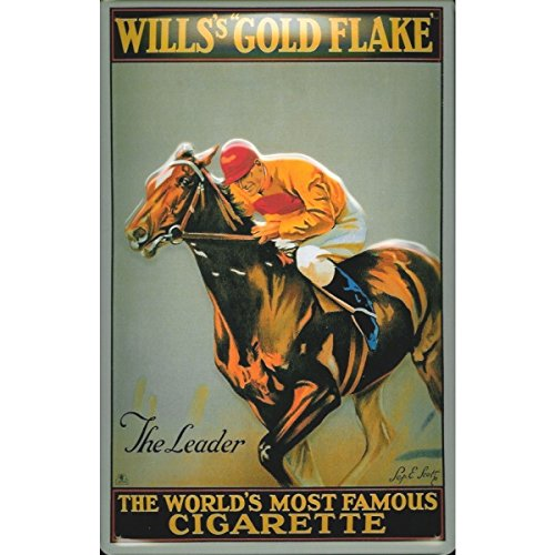 51y1w82ckkL UK BEST BUY #1Willss Gold Flake Horse Racing Old Advertising 3D Medium Metal/Steel Wall Sign price Reviews uk