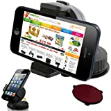 UniSuction 360 In-Car Windscreen Suction Holder Mount for Apple iPhone 3G, 3GS, 4, 4S / iPod Touch 2G, 3G, 4G (works with and without a case on the iPhone/iPod)