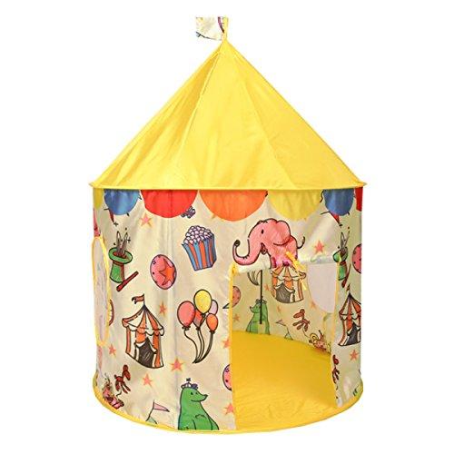 Tente Pour Enfants Intérieure Princesse Fille Extérieure Garçon Jeu Maison Maison 3-year-old Home Simulation Soie Jouet Maison,Yellow(A)