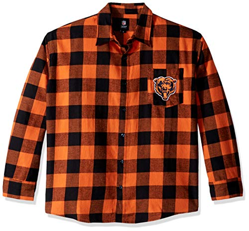 FOCO Chicago Bears Herren Flanellhemd, Gr. M