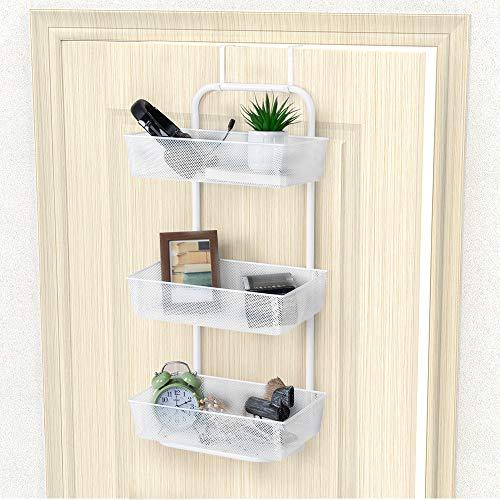 Nandae Hängeregal Türregal zum Einhängen mit 3 Körbe für Küche und Bad Weiß