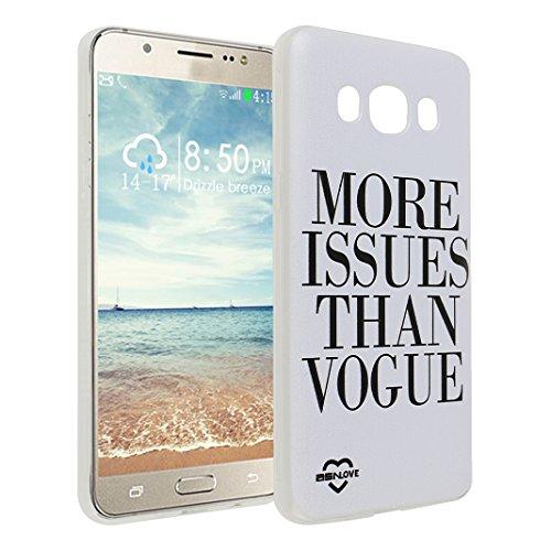 Galaxy J5 2016 , Asnlove Crystal Clear TPU Silikon Bumper Transparent Backcover Case Handy Schutzhülle Premium Kratzfest TPU Durchsichtige Schutzhülle für Samsung Galaxy J510F, Englisch Sprichwort Weiß und Schwarz